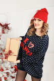 Christmas beautiful girl Royalty Free Stock Photo