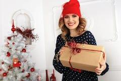 Christmas beautiful girl Stock Image