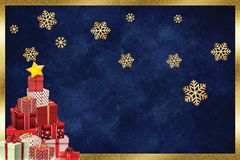 Christmas beautiful greeting card gift stock illustration
