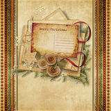 Christmas beautiful  postcard on vintage background Royalty Free Stock Images