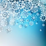 Christmas with beautiful snowflakes. EPS 10 Royalty Free Stock Photography