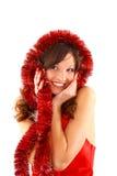 Christmas beautiful woman Stock Photos