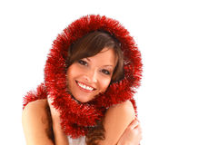 Christmas beautiful woman Royalty Free Stock Photos