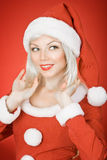 Christmas beauty girl Stock Photo