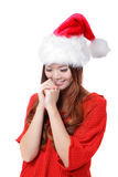 Christmas Beauty Girl make a wish Royalty Free Stock Photography