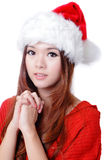 Christmas Beauty Girl wish Stock Photography