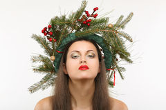 Christmas beauty portrait Royalty Free Stock Images