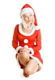 Christmas beauty Santa Claus Stock Images