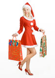 Christmas beauty Santa Claus Stock Photos
