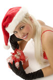 Christmas beauty smiling Royalty Free Stock Photography