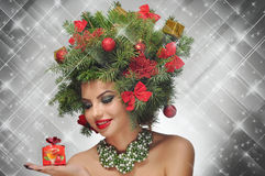 Christmas beauty. Beauty of a Christmas tree stock images