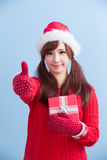 Christmas Beauty Woman Royalty Free Stock Photography