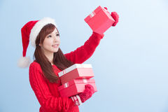 Christmas beauty woman Stock Photography