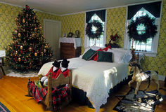 Christmas - bedroom Stock Photography