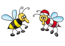 Christmas bee Royalty Free Stock Photos