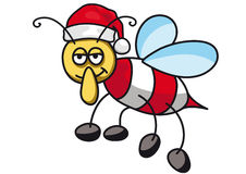Christmas bee Royalty Free Stock Images