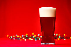 Christmas beer Stock Images