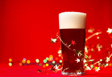 Christmas beer Royalty Free Stock Photo