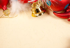 Christmas beige background material Stock Photos