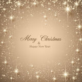 Christmas Beige Starry Background. Stock Image