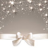 Christmas beige starry background. Royalty Free Stock Image