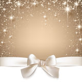 Christmas beige starry background. Stock Photo