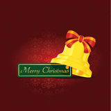 Christmas bell. Illustration of golden Christmas bell Royalty Free Stock Photos
