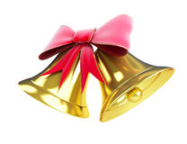 Christmas bell. On a white background Royalty Free Stock Photo
