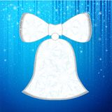 Christmas bell. With snowflakesand texture. Vector illustration Stock Photo