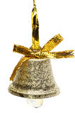Christmas Bell. One christmas bell isolated Royalty Free Stock Photo