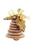Christmas bell assembled from gingerbread Stock Photography