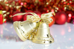 Christmas bell background Stock Images