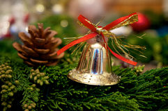 Christmas bell background Stock Image