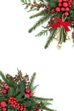 Christmas Bell and Bauble Border Stock Image