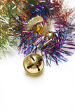 Christmas bell and borders decorations Royalty Free Stock Images