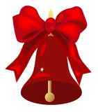 Christmas Bell with Bow Royalty Free Stock Photos