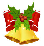 Christmas bell with bow Stock Photo