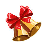 Christmas bell with bow Stock Photos