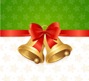 Christmas Bell Card Backround. Vector Stock Image
