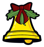 Christmas Bell. Cartoon vector illustration of a holiday bell icon as used in Christmas decorations royalty free illustration