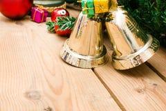 Christmas bell and christmas decoration Stock Photo
