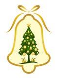Christmas bell with Christmas tree decor Stock Image
