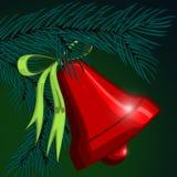 Christmas bell on the Christmas tree. Stock Photography