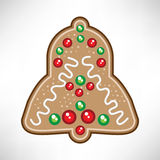 Christmas bell cookie Royalty Free Stock Photo