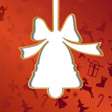 Christmas bell, festive background Royalty Free Stock Images