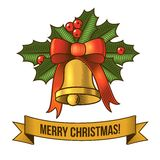 Christmas bell icon Stock Image