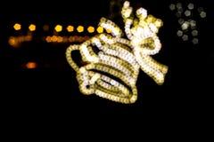 Christmas bell light blur bokeh Stock Images