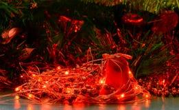 Christmas bell and lights Stock Photo