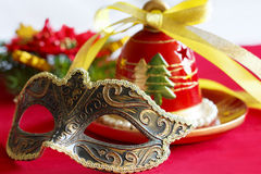 Christmas bell and mask Stock Photo