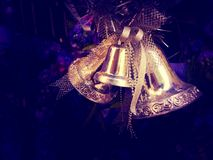 Christmas bell. Memorial of christmas party Stock Photo
